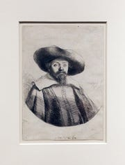 A Rembrandt etching, Samuel Manaseh Ben Isreal, circa 1636, will be on display at the Zanesville Museum of Art.