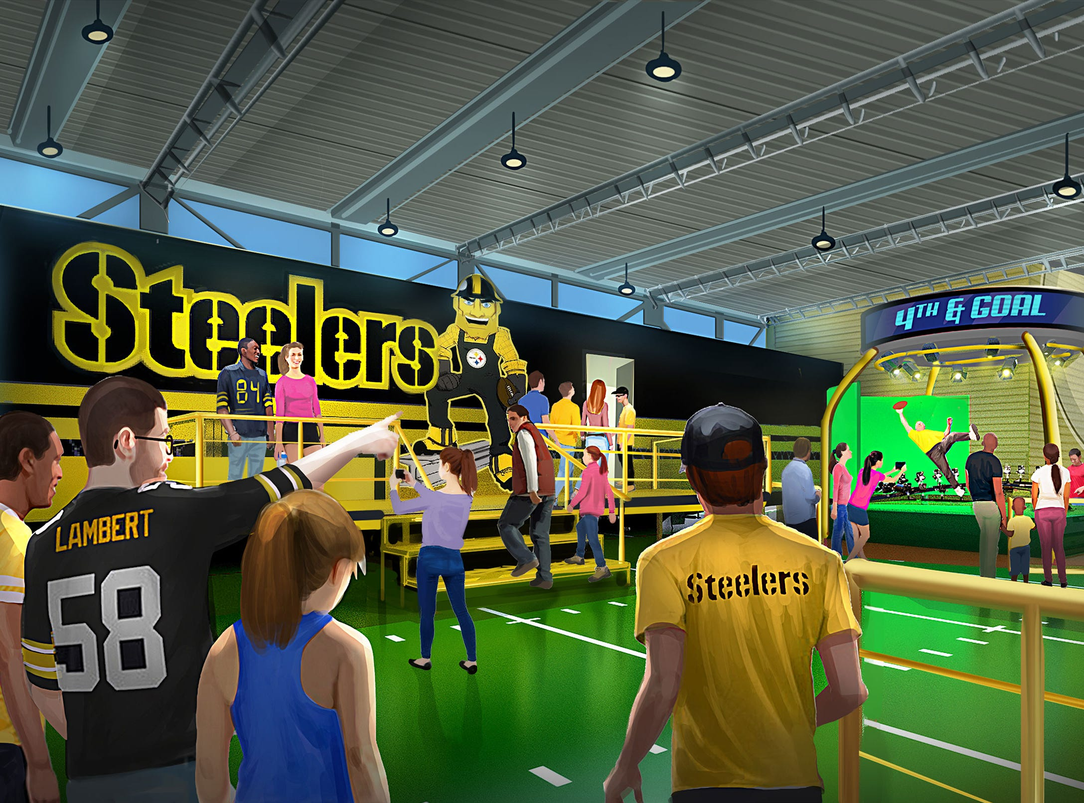 The highly anticipated Steel Curtain roller coaster will be part of a new football-focused land called, aptly enough, Steelers Country.