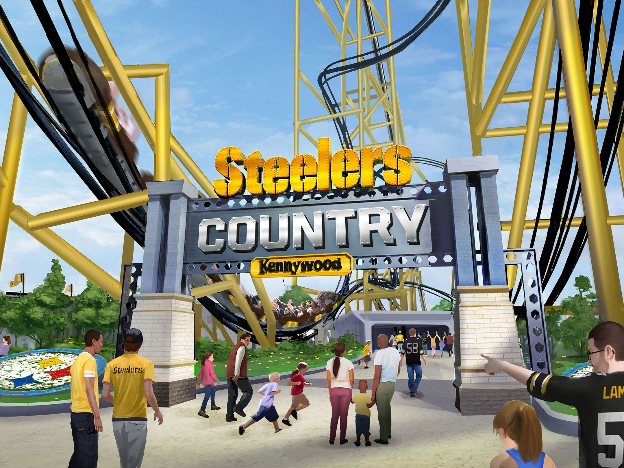 Pittsburgh Steelers-inspired roller coaster to open at Kennywood