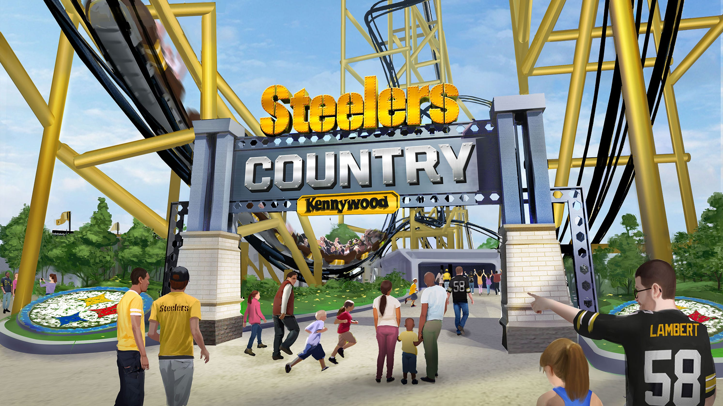 859c69295 Pittsburgh Steelers-inspired roller coaster to open at Kennywood