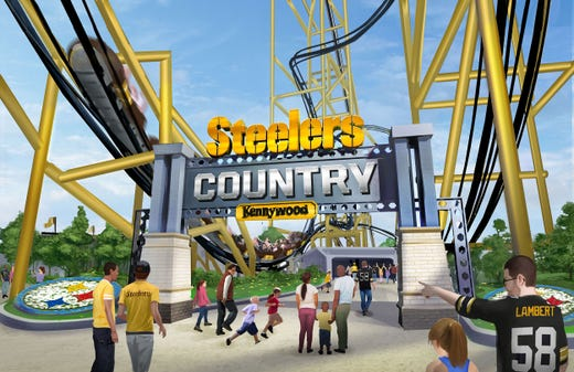 While the Steelers have tremendous cachet, Kennywood has been an area landmark for generations. Bringing the two together would appear to be a match made in Pittsburgh's version of heaven.