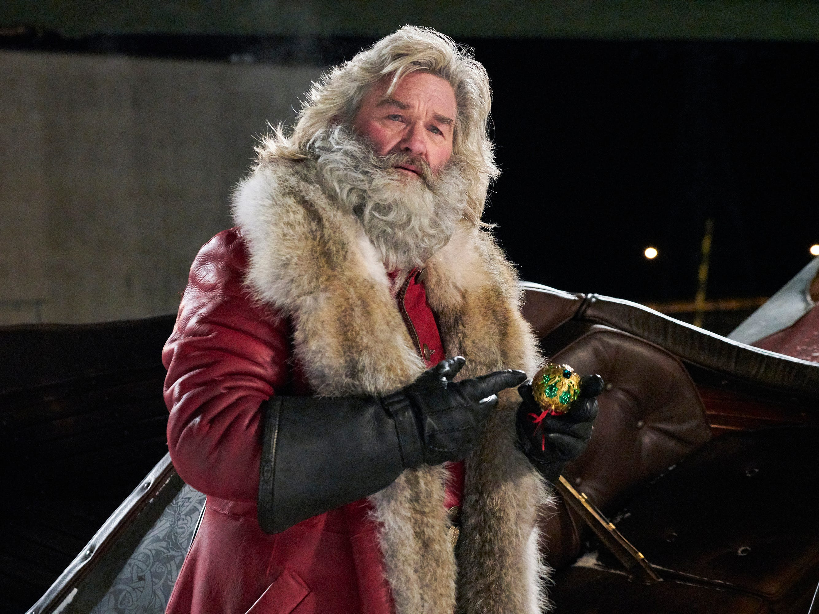 "Santa Claus (Kurt Russell) teams with some curious kids to save Christmas from going awry in the holiday adventure ""The Christmas Chronicles."""