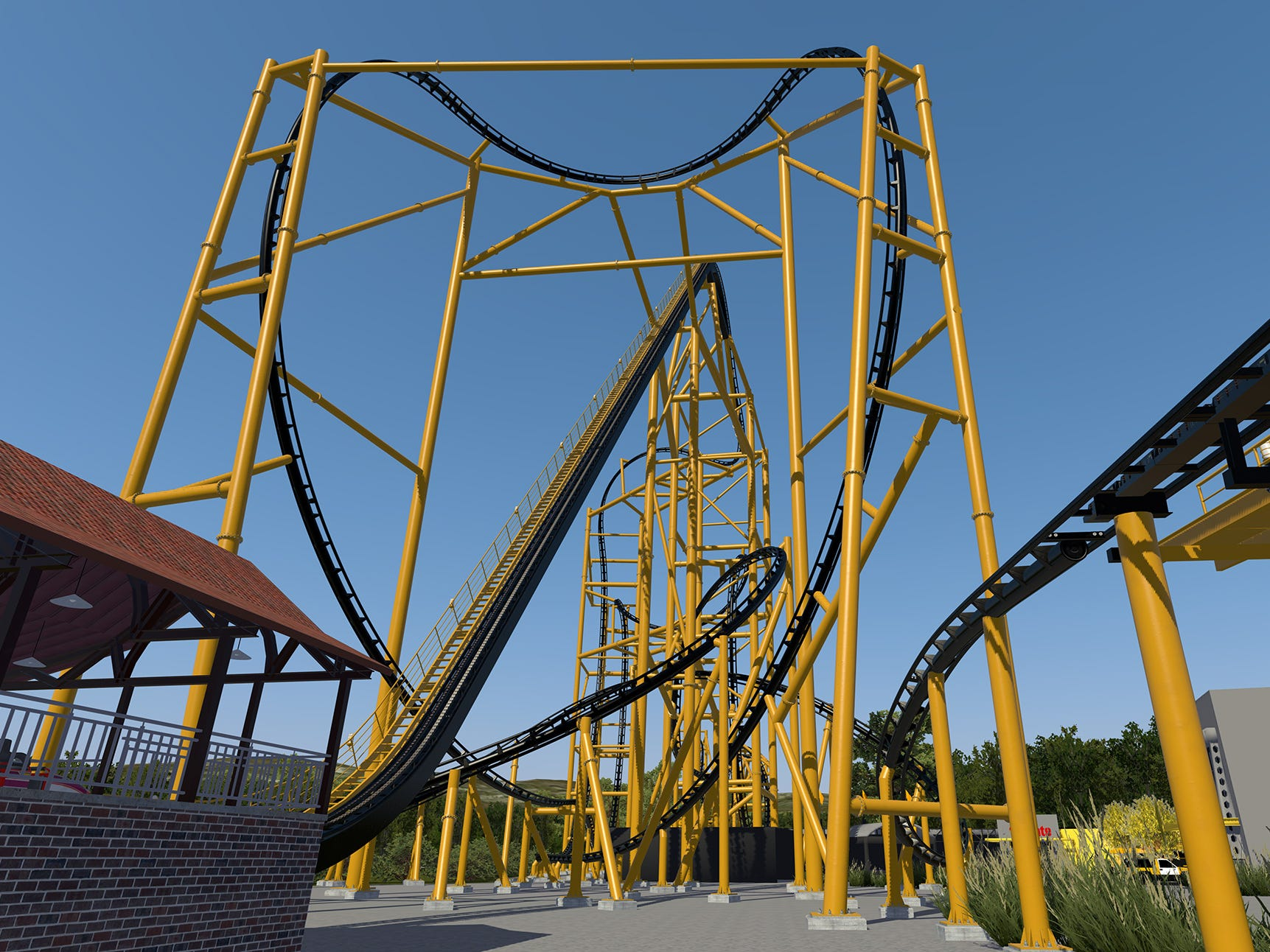 Steel Curtain will send passengers racing head over heels nine separate times. That's more than any other coaster in North America.