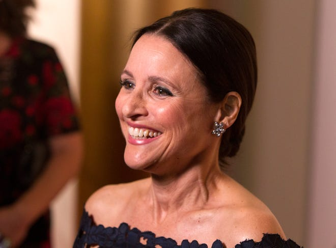 Julia Louis-Dreyfus received the Mark Twain Prize for American Humor on Sunday, Oct. 21, 2018.