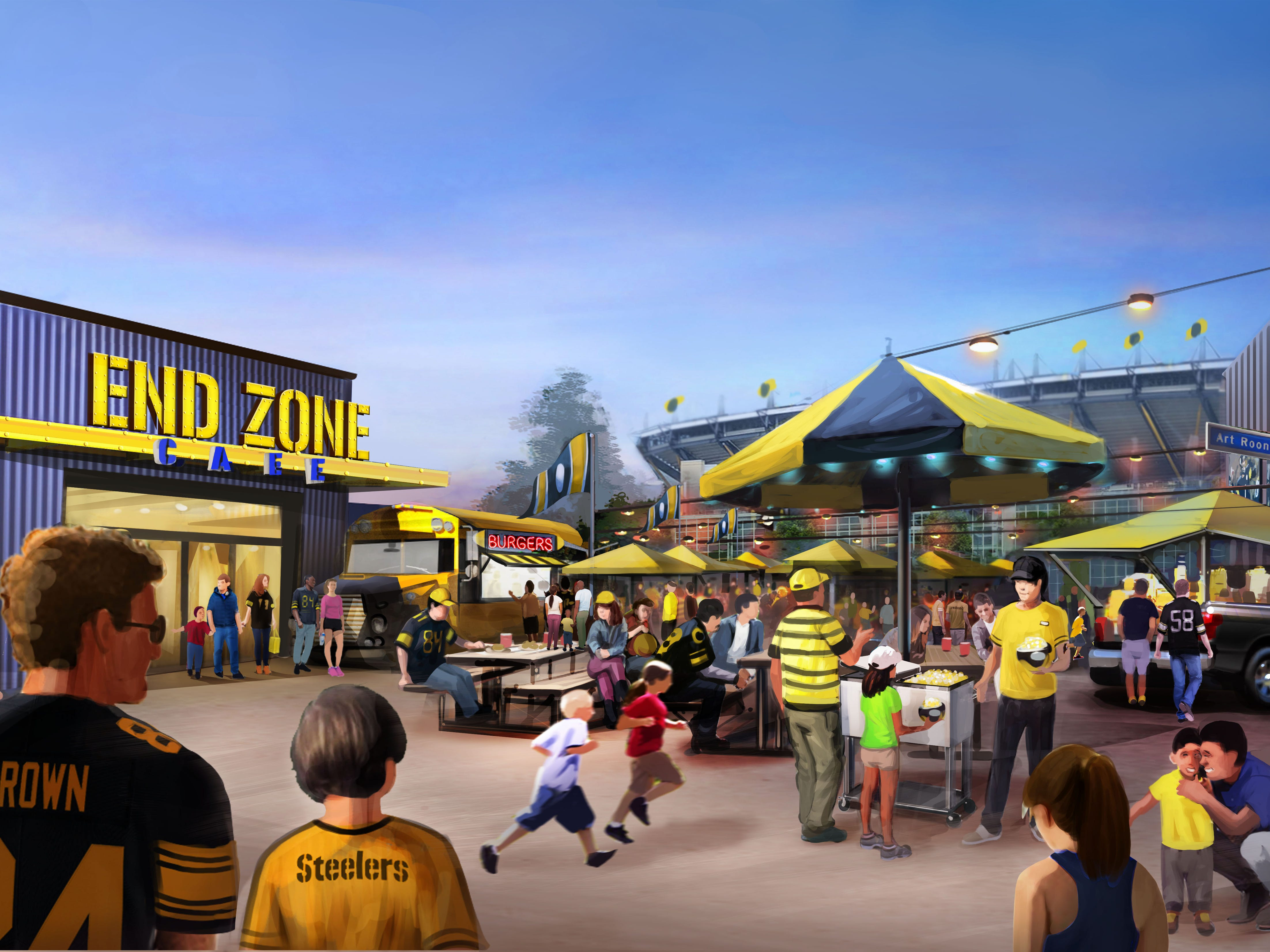 The Tailgate Patio will serve up the kind of grub that fans chow down on in the stadium's parking lot.
