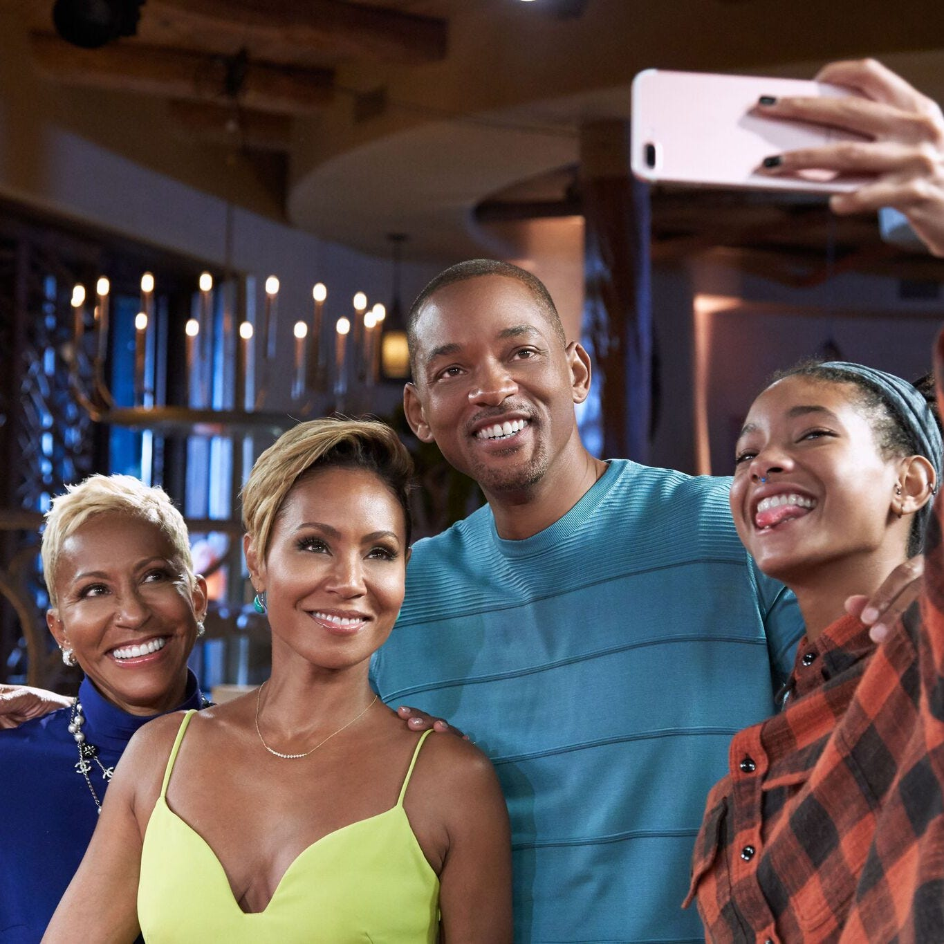 "Jada Pinkett Smith and husband Will Smith opened up about their relationship on her Facebook Watch series ""Red Table Talk"" with her mother Adrienne Banfield-Jones and daughter Willow Smith."