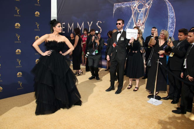 Sarah Silverman at the Emmy Awards in Los Angeles on Sept. 17, 2018.