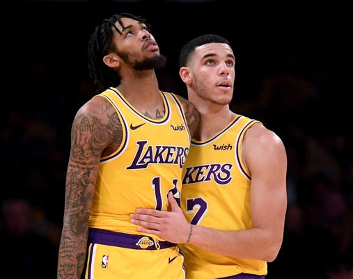 the latest 01b3f 7e6bb Lakers' Brandon Ingram surprised his suspension wasn't longer