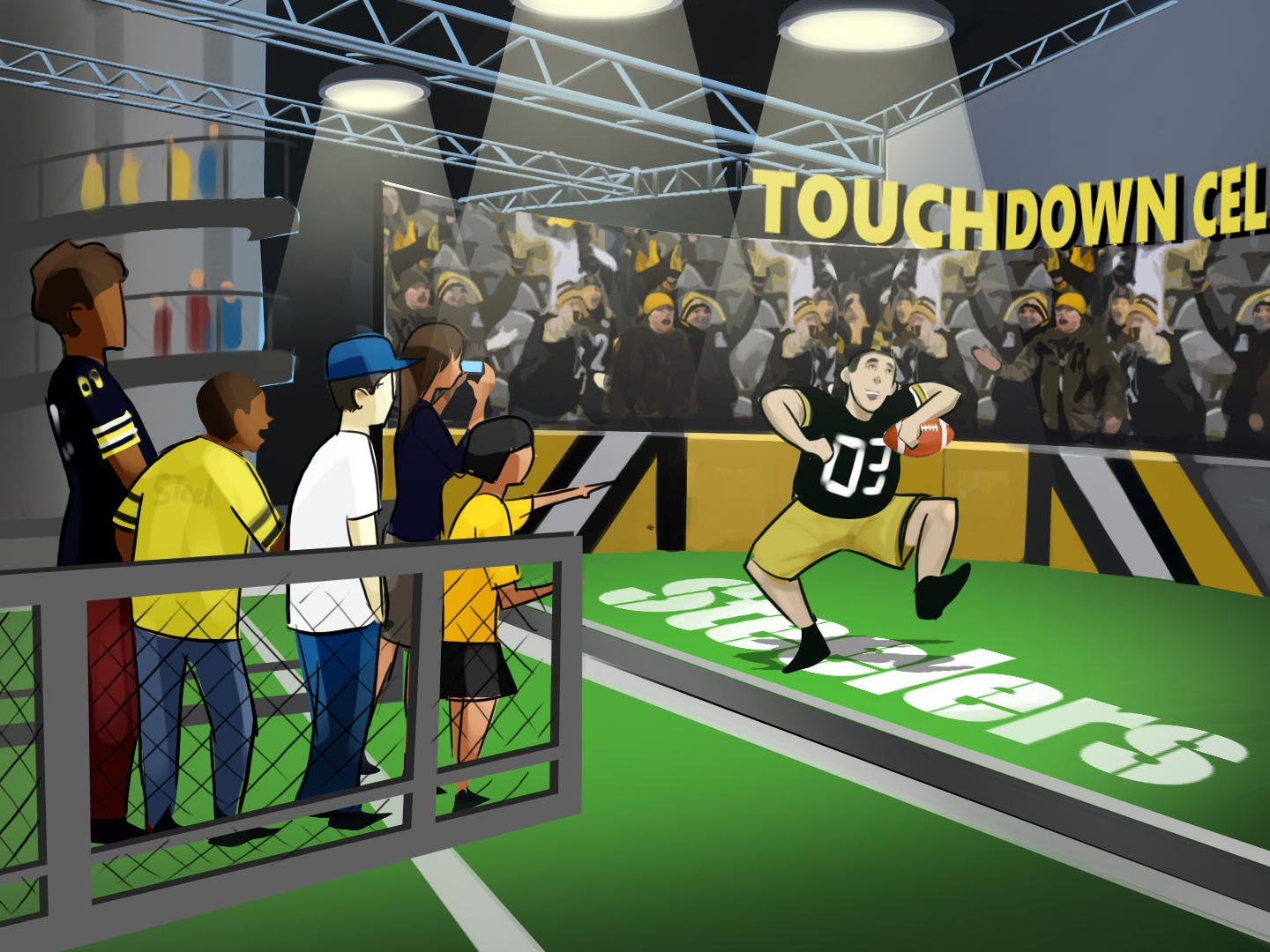 "AT ""Touchdown Celebration,"" fans can do their own end zone victory dance."