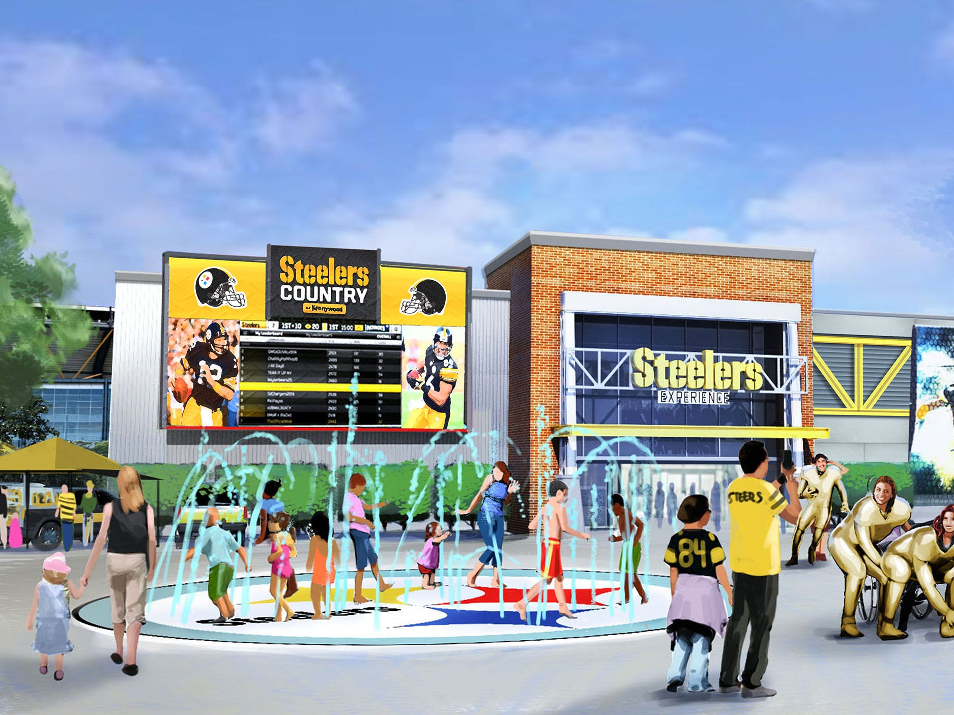 The highly anticipated ride will be part of a new football-focused land called, aptly enough, Steelers Country.