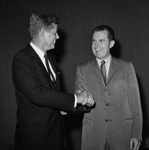 Presidential nominee Richard Nixon and Sen. John F. Kennedy, Chicago, Sept. 26, 1960.