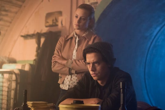 """Betty (Lili Reinhart) and Jughead  (Cole Sprouse) are on the hunt for the Gargoyle King in the new season of """"Riverdale."""""""