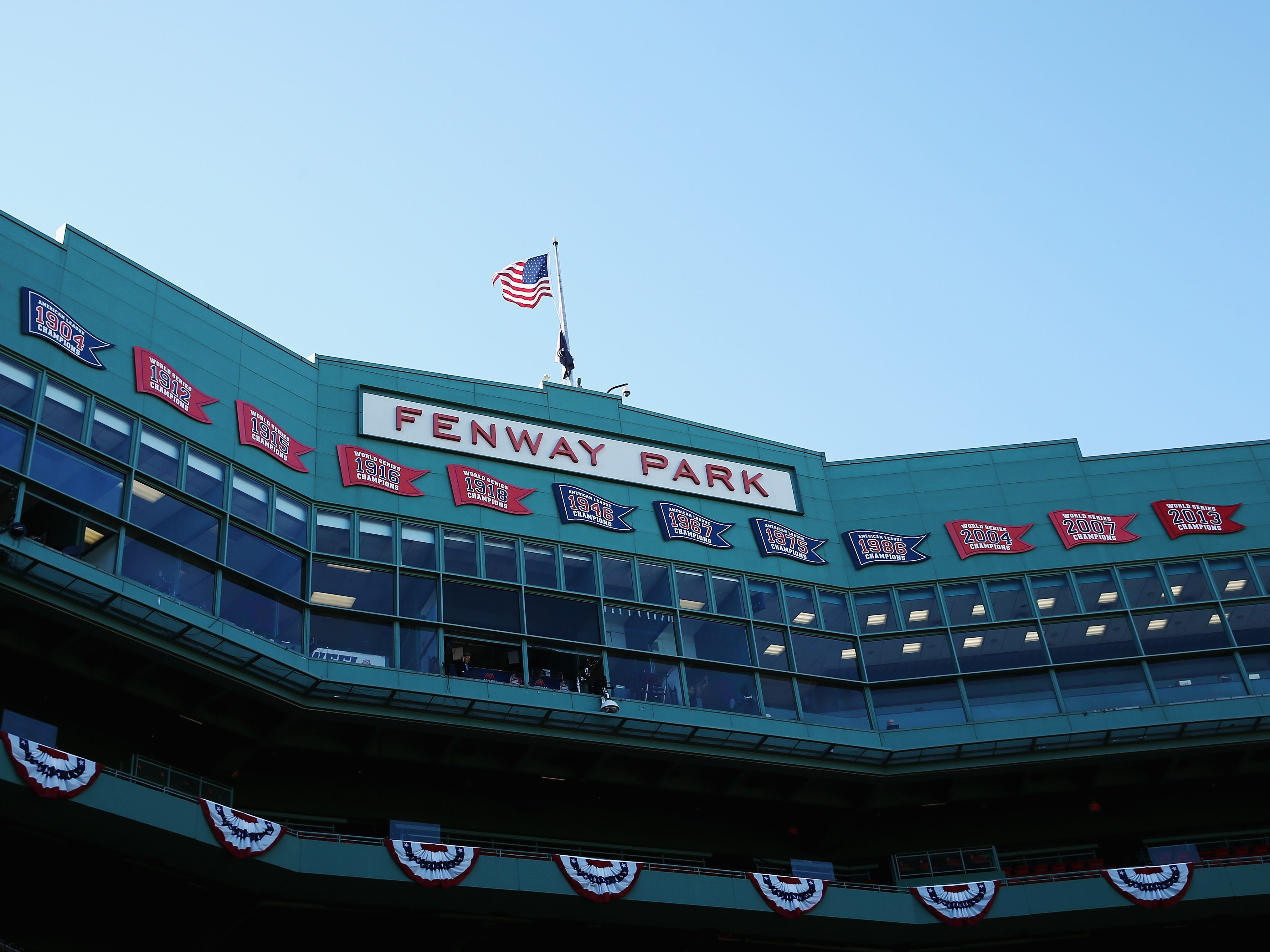 Fenway Park, home of the Red Sox and Game 1 of the World Series.