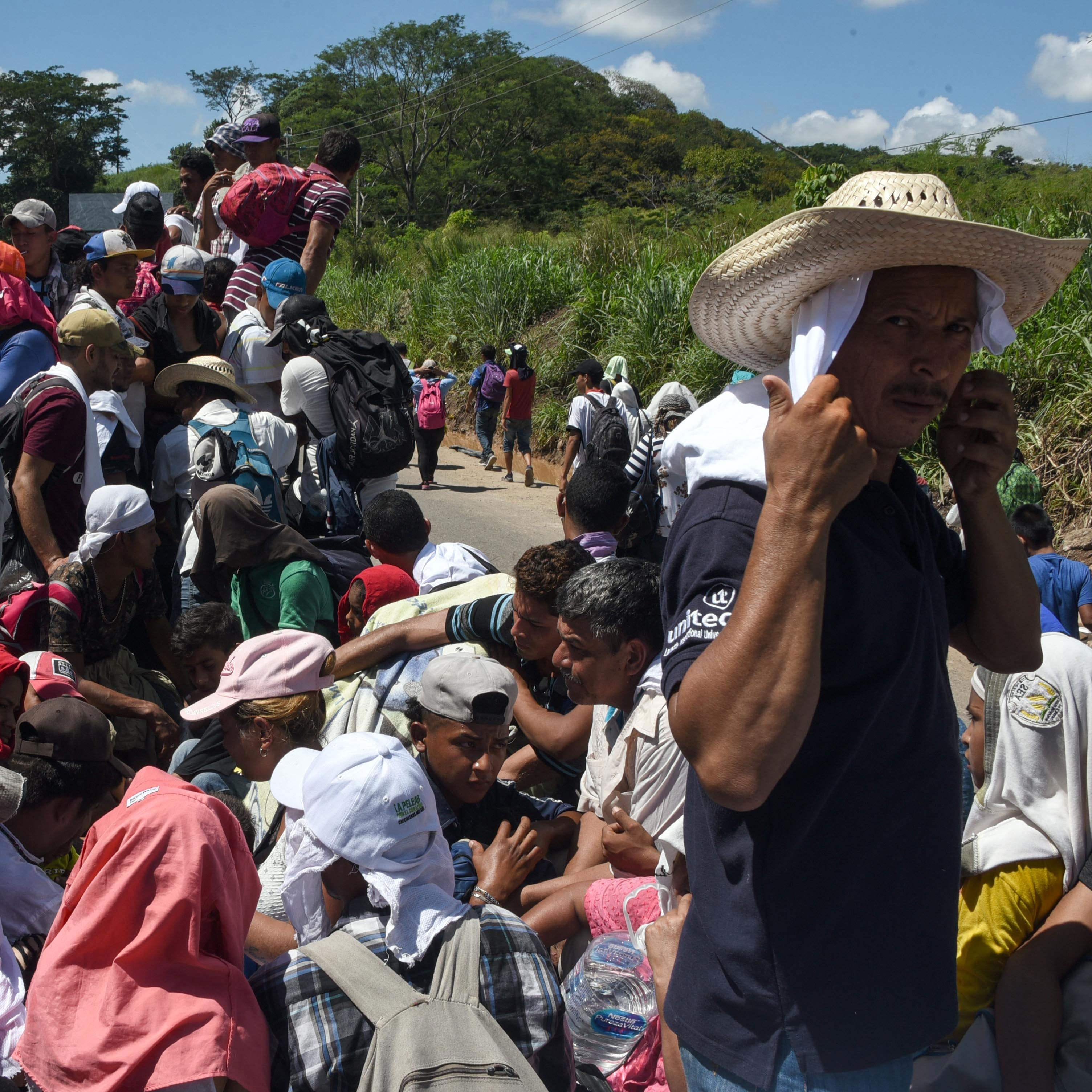 Trump keeps talking. Migrants keep walking.