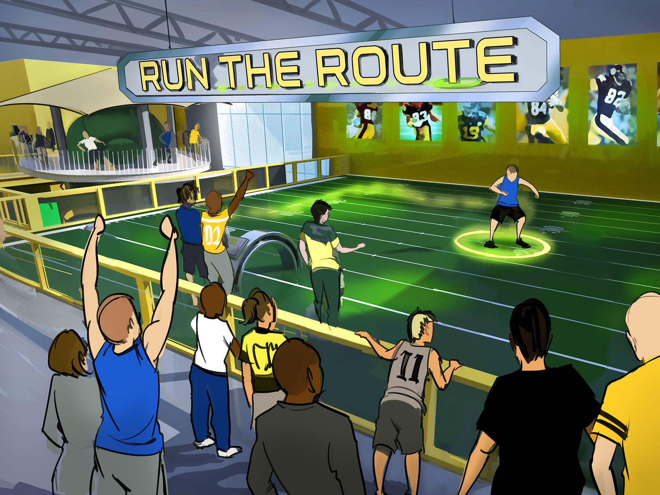"There will be a ""Run the Route"" obstacle course."