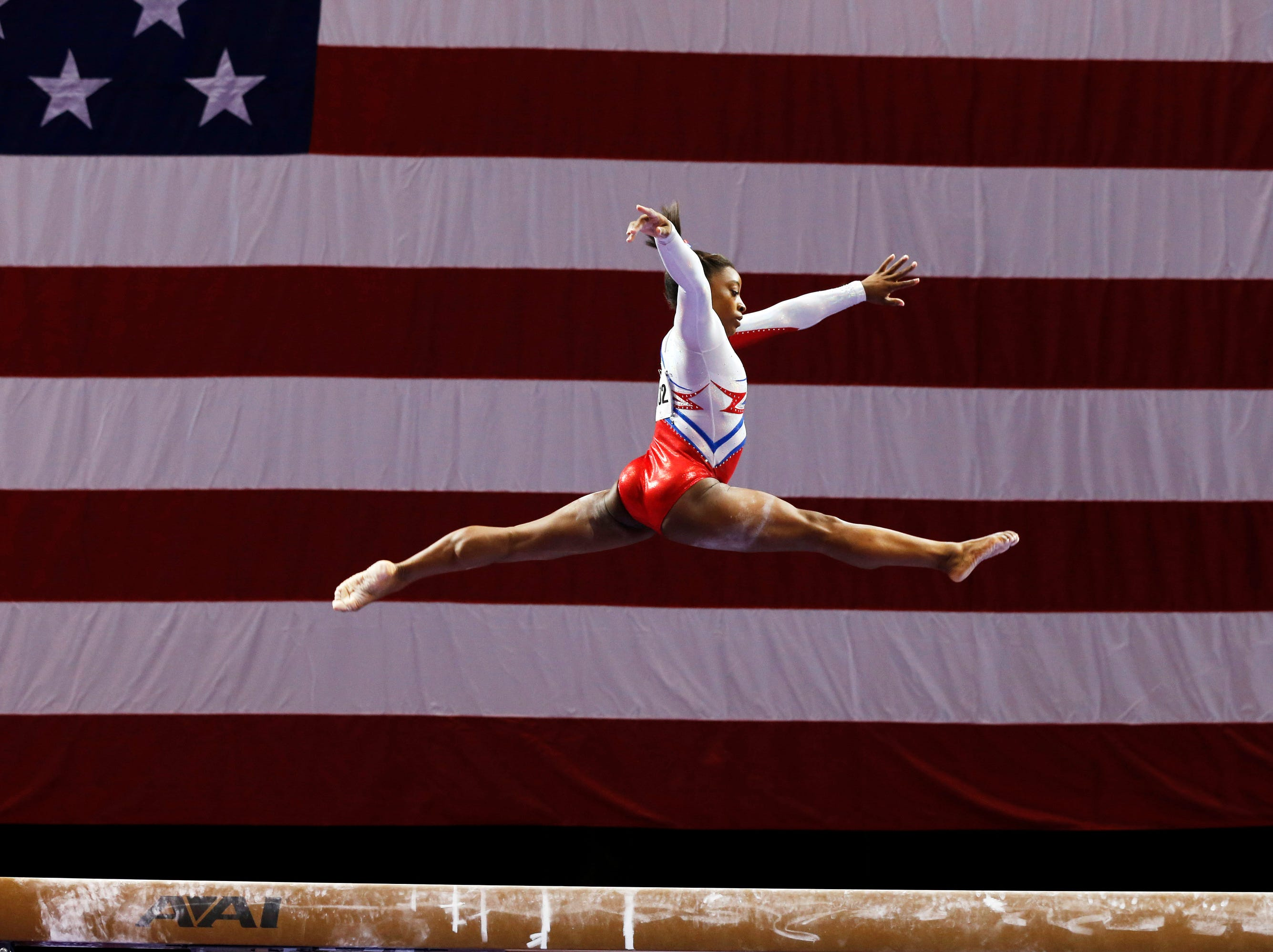 In 2013, Simone Biles won her first U.S. title on the balance beam during the P&G Gymnastics Championships.