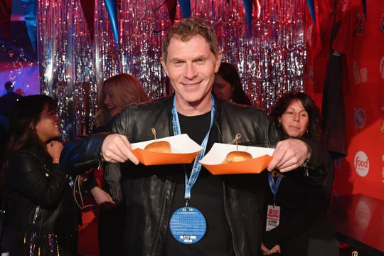 Bobby Flay at Food Network's rooftop birthday party hosted by Flay, Alton Brown, Giada De Laurentiis, and Ina Garten at Pier 92 in New York City on October 13, 2018.