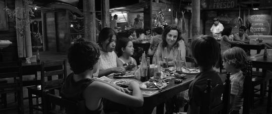 """""""Roma"""" (R): """"Gravity"""" director Alfonso Curaon returns in his most personal work:an artful and gripping black-and-white glimpse at a bourgeois family's housekeeper set in the backdrop of 1970's Mexico City. 