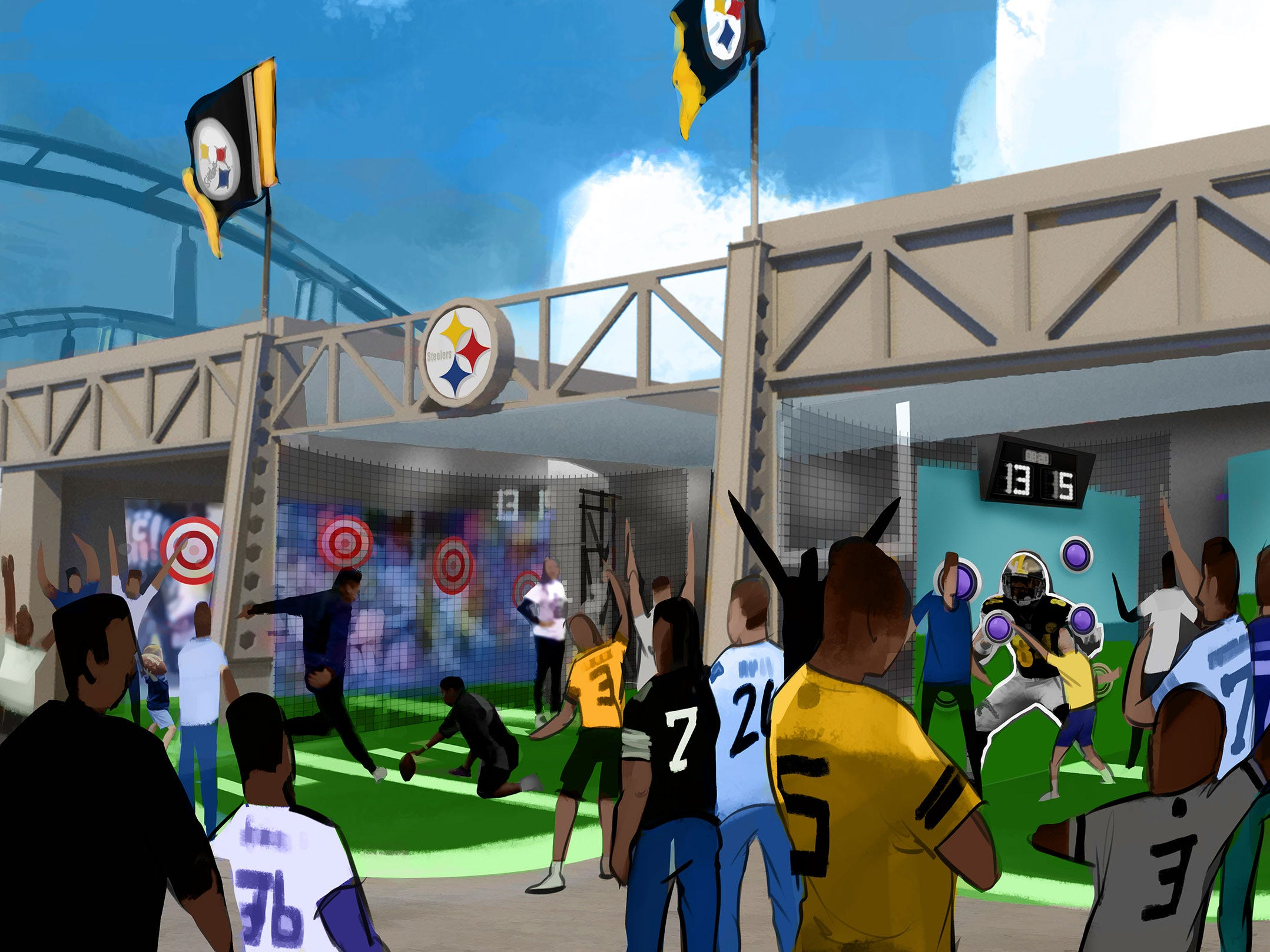 The new land will also include midway games (at least one of which will likely involve tossing a football).