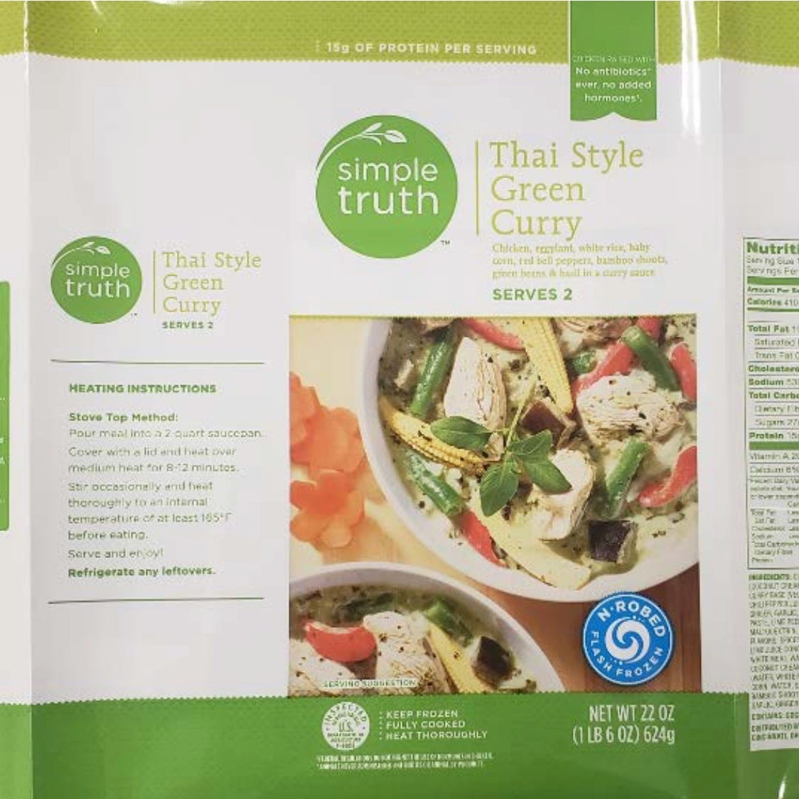 Envolve Foods of Corona, California, has recalled about 292,764 pounds of ready-to-eat chicken and beef products including 22-ounce bags of Simple Truth Thai Style Green Curry over concerns of possible listeria and salmonella contamination. The packages have sell by dates of 3/13/19 through 1/24/20.