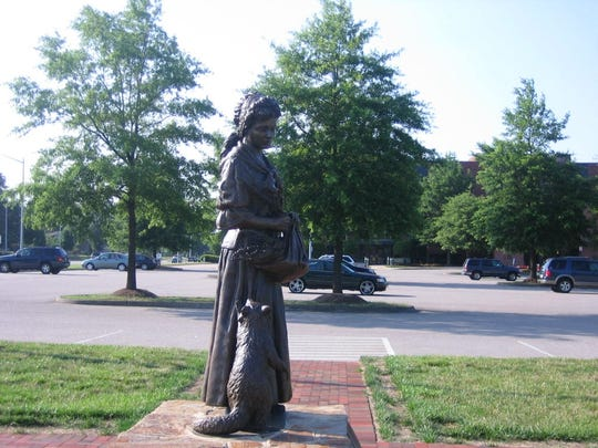 One of Virginia Beach's most famous 17th century residents, the Witch of Pungo (a.k.a. Grace White Sherwood), is immortalized with a statue.