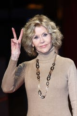 Jane Fonda, seen here in Lyon, France, in 2018, says she will go to her grave regretting the photo of her posing atop an anti-aircraft gun in North Vietnam during her 1972 visit.