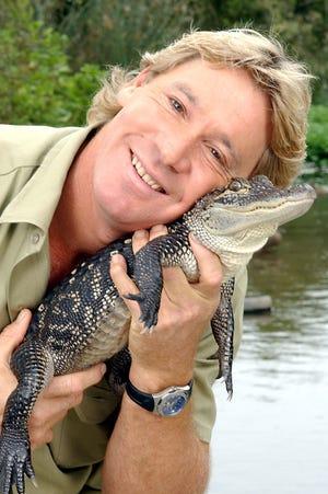 "Steve Irwin, aka ""The Crocodile Hunter,"" in 2002."