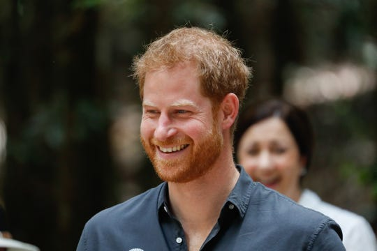 FRASER ISLAND, AUSTRALIA - OCTOBER 22: Prince Harry, Duke of Sussex portrait smiling under the Queens Commonwealth Canopy on October 22, 2018 in Fraser Island, Australia.