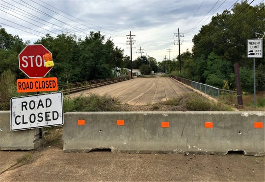 This bridge over Bayou Rapides connecting North 16th and Stracener streets in Alexandria is currently closed. It is one of more than 50 bridges in Rapides Parish considered structurally deficient.