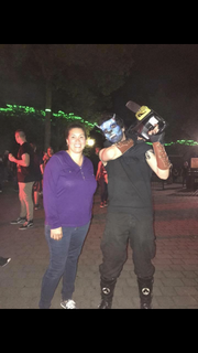 Leticia Gomez of Howell is taking part in Six Flags Great Adventure's Coffin Challenge.