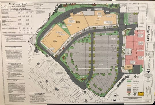 Schematic of Ocean County Mall redevelopment