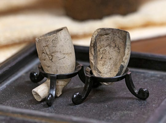 Remains of clay smoking pipes found at Duffy's Cut