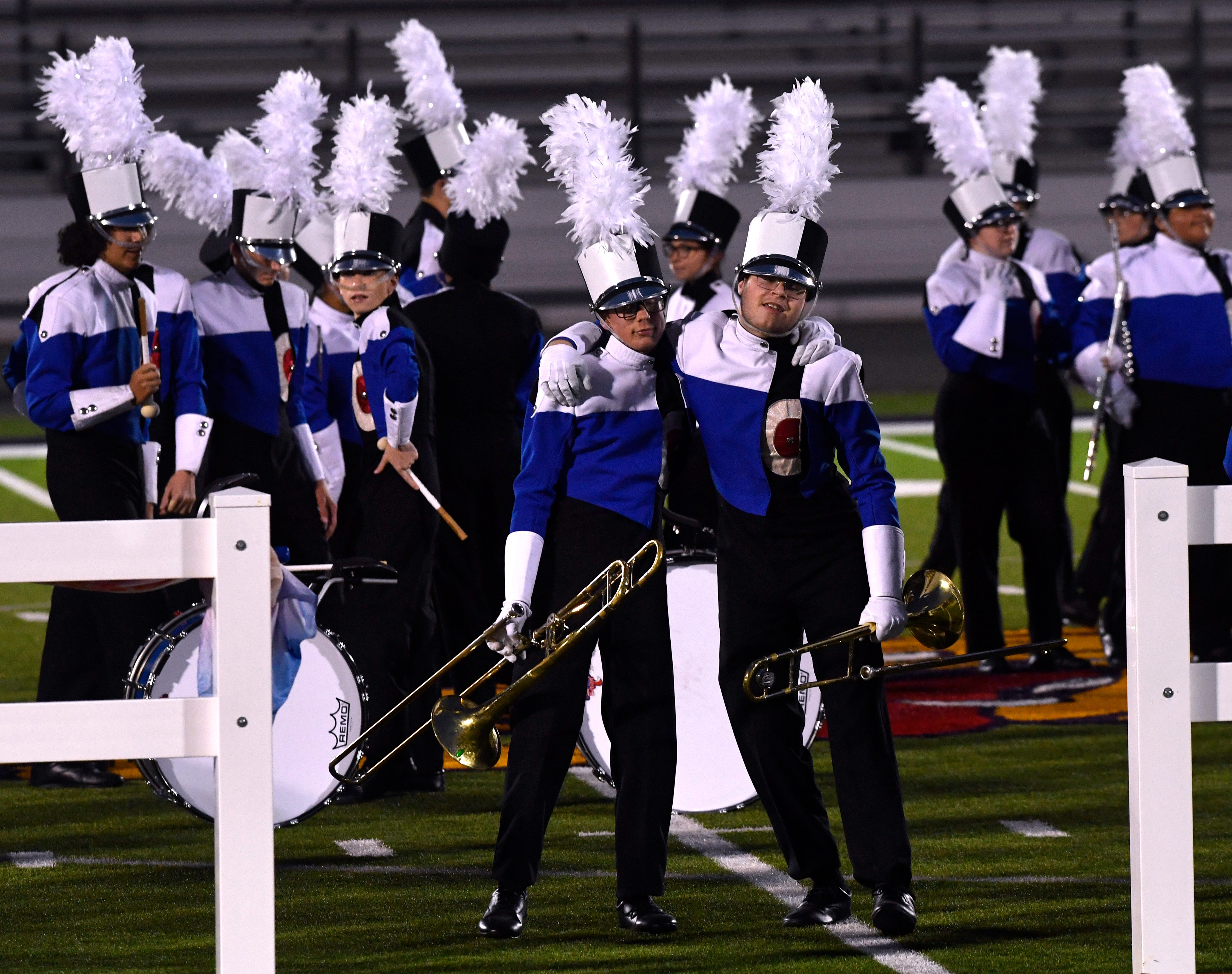 The Cooper High School Awesome Cooper Band performs its show Monday. Cooper received a Division 1 rating.