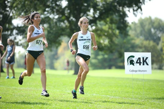 Former Lakeview High star Maggie Farrell is having a standout season in her second year on the Michigan State University cross country team.