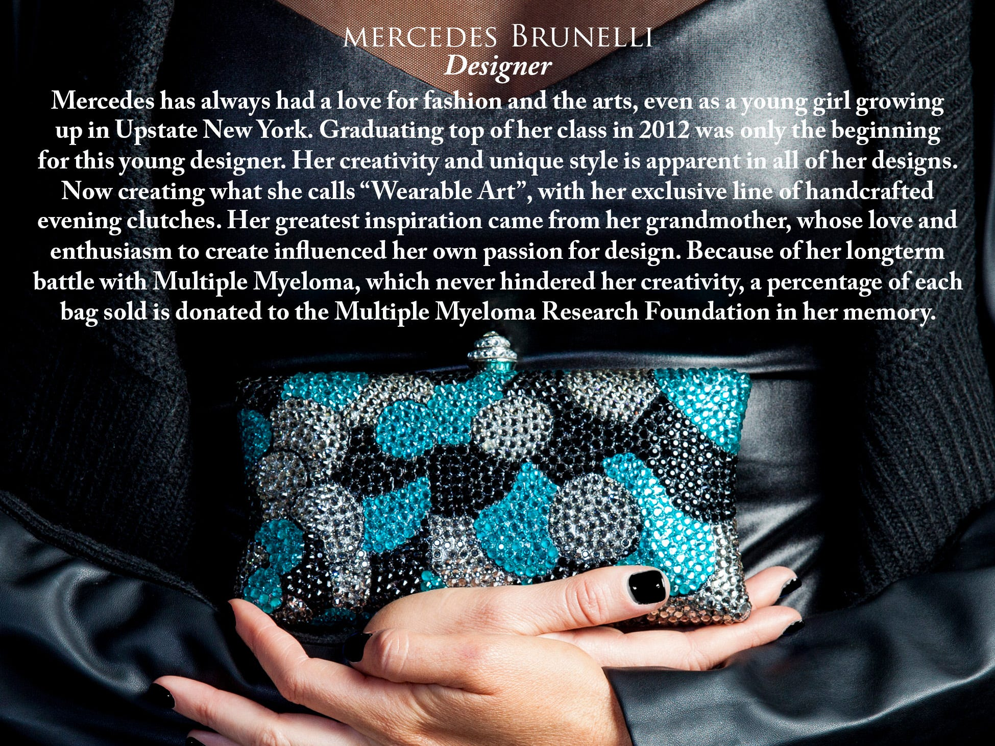 Mercedes Brunelli was invited to bring her pieces to the Emmy Awards.