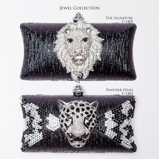 "Mercedes Brunelli's ""The Signature"" lion head clutch was one of the pieces featured at the Emmy Awards."