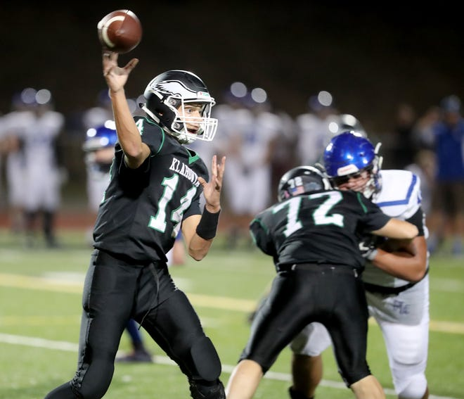 Klahowya senior quarterback John Hartford and the Eagles face Zillah in the first round of the Class 1A state football tournament Friday. The Eagles haven't been to state since 2004.
