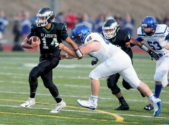 Quarterback John Hartford and Klahowya are on the verge of an Olympic/Nisqually 1A championship. The Eagles have a critical game Thursday against Cascade Christian of Puyallup.