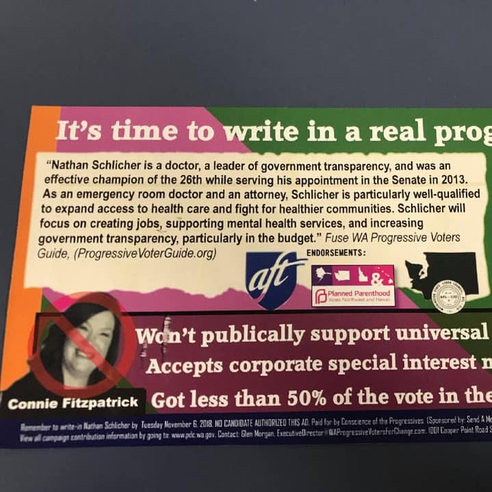 26th District mailer encourages write-in for ex-senator who doesn't want the job