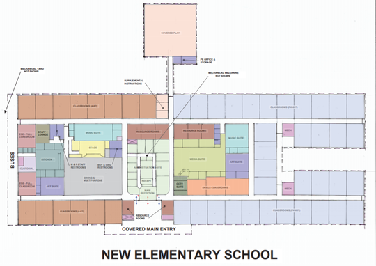 Preliminary designs for the new Viera elementary school.