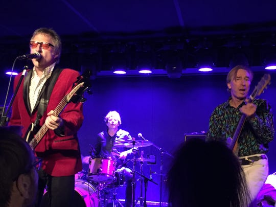 Michael Giblin, Clem Burke and Keith Streng of The Split Squad perform Sunday, Oct. 21, 2018 at Mercury Lounge in New York City.