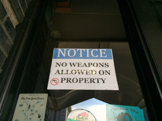 A notice posted next to the Nectar's entrance on Oct. 23, 2018.