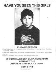 The missing poster for Elisa Roberson