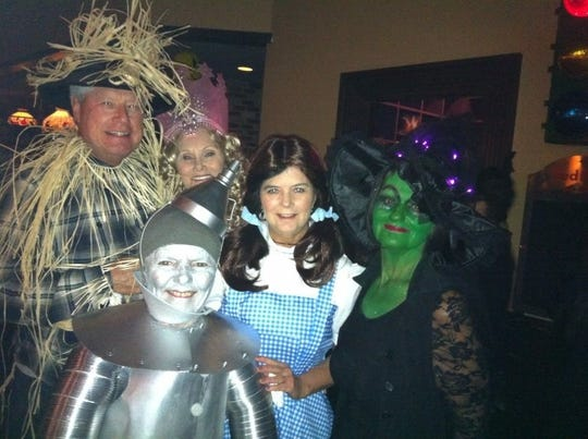 Coastline dance regulars dress as Wizard of Oz characters for the last Halloween event at the former Coastline during a Golden Oldies dance night. In front is Alicia Schmidt. Behind from left are Wayne Hartford, Kathy Coyle, Pat Frick and Judi Soshowsky.