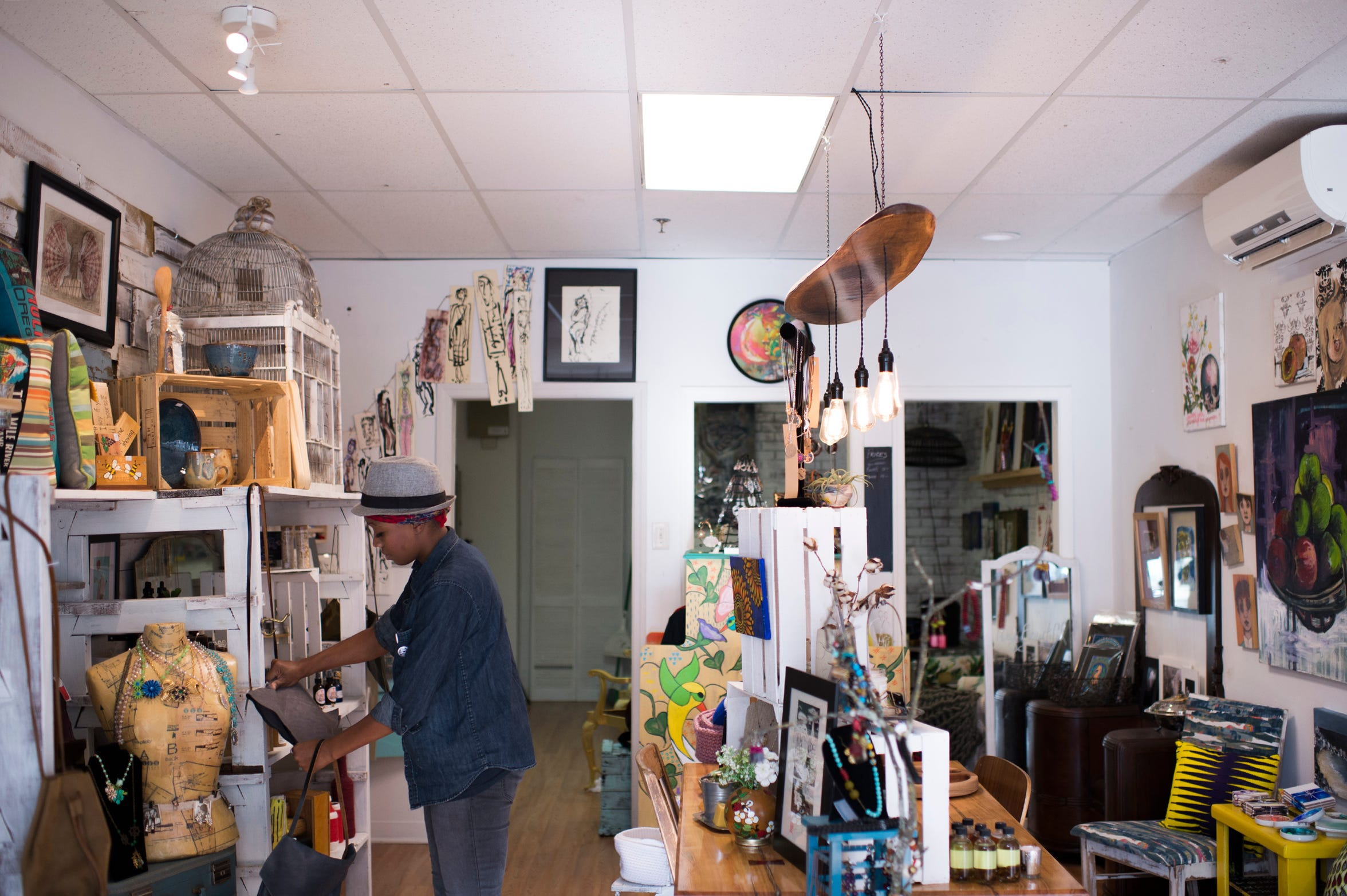 MADE. owner Jamilah Damiani inside her shop Tuesday, Oct. 16, 2018 in Woodbury, N.J.