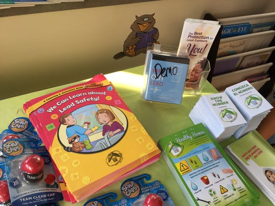 Children received coloring books, soap caps and pamphlets to take home with them from CAMCare Health.