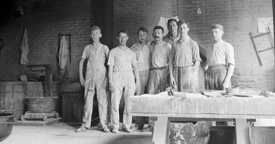 Workers in the Goelitz factory in Cincinnati, where candy corn was manufactured