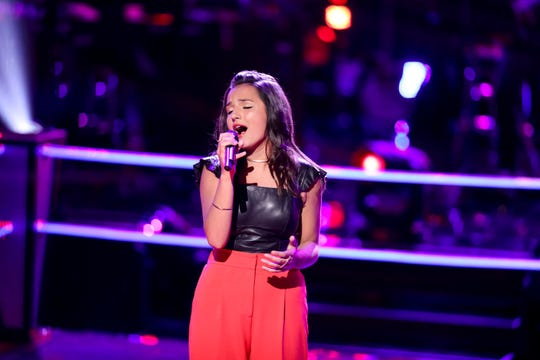 Mason teen Abby Cates shows her style in the Battle Round of The Voice.