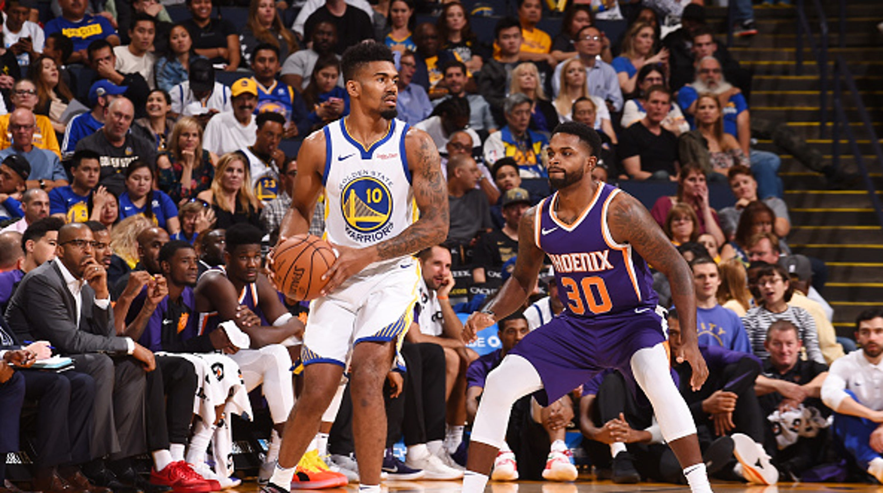01485f489328 Former UC star Jacob Evans III scores first NBA basket in Golden State  Warriors  win