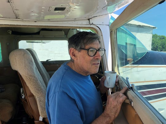 On Friday, Marty Balk and his longtime friend, Dr. Ed Galkin, will climb in the cockpit of Galkin's 1976 Cessna 210 and take to the air to fly around the world to bring awareness to and raise funds to combat Alzheimer's disease.